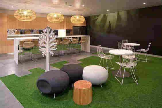 Ambientes con cesped artificial